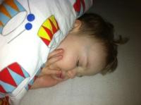 Viktor sound asleep (for once)
