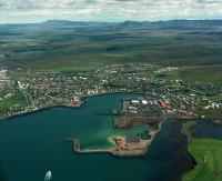 Hafnarfjordur seen from above